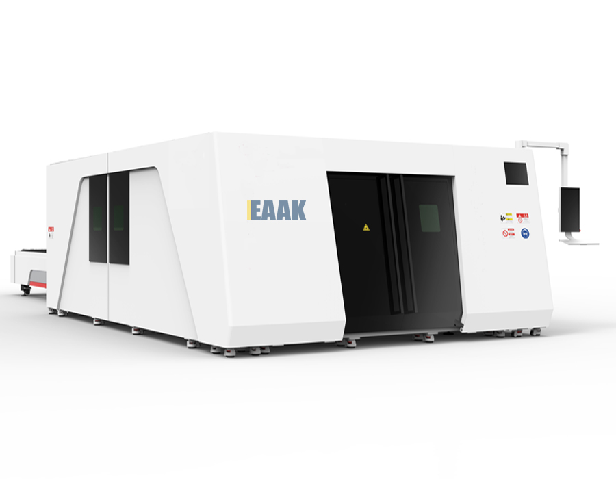 Laser cutting machine with whole cover